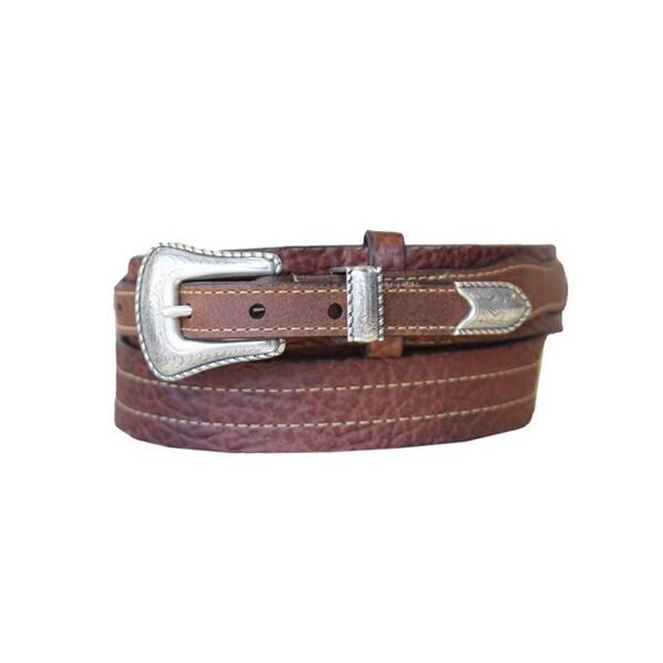 Vintage Bison Western Belt Mens Cartwright Leather Peanut