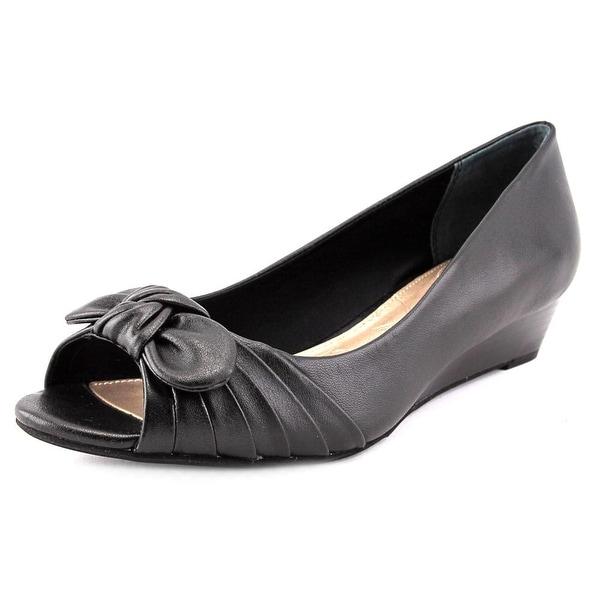 Giani Bernini Singa Open Toe Synthetic Wedge Heel