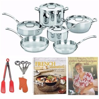 Cuisinart French Classic Tri-Ply Stainless 10-Piece Cookware Set Bundle