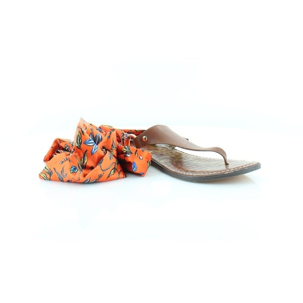 9708ab4aa16 Shop Sam Edelman Giliana Women s Sandals   Flip Flops Orange Brwn ...