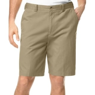 Geoffrey Beene NEW Beige Mens Size 44 Flat Front Khakis Chinos Shorts