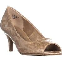 KS35 Mory Peep Toe Pump Heels, Nude - 7.5 us