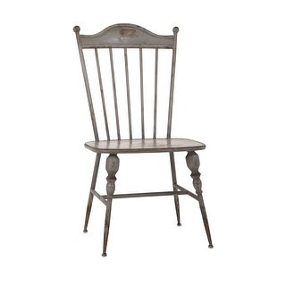 "IMAX Home 89634  Chatham 23"" Wide Iron Occasional Chair - Gray"