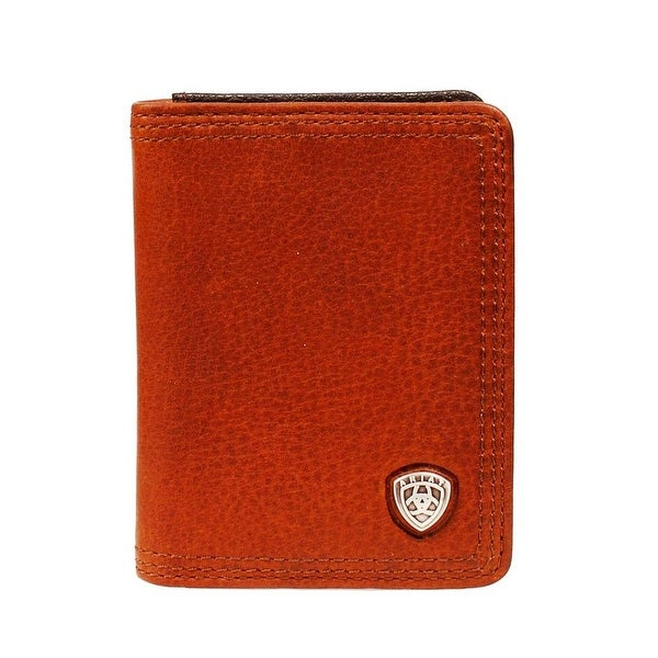 Ariat Western Wallet Mens Leather Bifold Shield Concho - One size