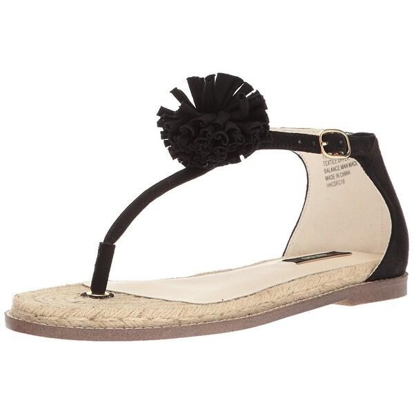 Kensie Women's Eduardo Espadrille Sandal, Black, Size 6.0