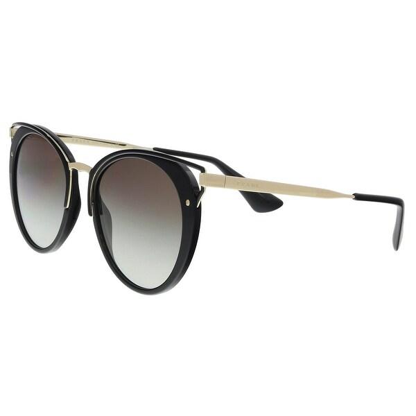 1b8c7ab49e Shop Prada PR 66TS 1AB0A7 Black Cat eye Sunglasses - 54-20-145 ...