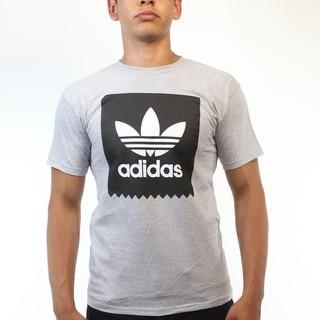 Adidas Blackbird Black And White Trefoil Men's Grey T-shirt