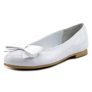 Nina Kids Pegasus Youth Round Toe Synthetic White Flats