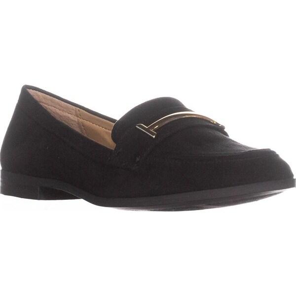 A35 Ameliaa Sleek Dress Loafer Flats, Black