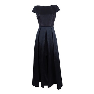 Link to Adrianna Papell Women's Metallic Knit & Taffeta Gown - Black Similar Items in Dresses