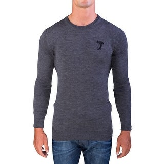 Versace Men's Medusa Head Crew Neck Sweater Grey