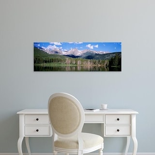 Easy Art Prints Panoramic Images's 'Sprague Lake Rocky Mountain National Park CO' Premium Canvas Art