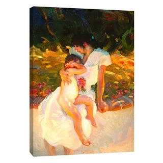 "PTM Images 9-105165  PTM Canvas Collection 10"" x 8"" - ""Mother's Love"" Giclee Flowers Art Print on Canvas"