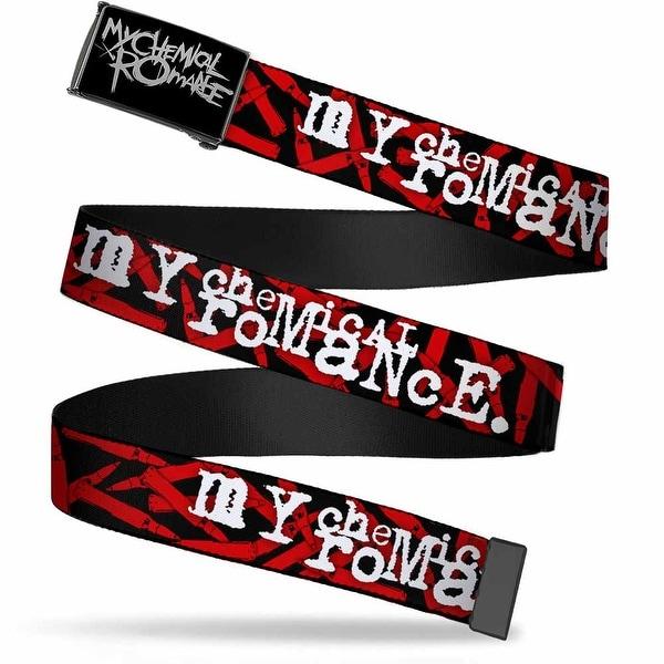 My Chemical Romance Logo Reverse Brushed Cam My Chemical Romance Web Belt