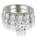 1.65 cttw. 14K White Gold Prong Set Round Cut Diamond Bridal Set - Thumbnail 0
