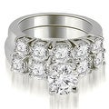 2.15 cttw. 14K White Gold Prong Set Round Cut Diamond Bridal Set - Thumbnail 0