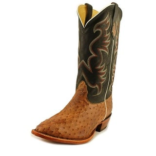 Nocona Premium Smooth Ostrich Pointed Toe Leather Western Boot