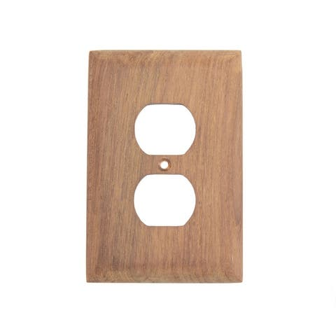 Teak Outlet Cover, Receptacle Plate - Outlet Cover