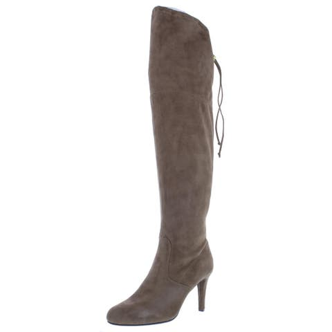Rialto Womens Calla Over-The-Knee Boots Faux Suede Tall