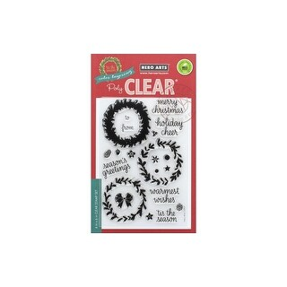 Hero Arts Clear Stamp Color Layering Wreath