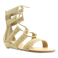 Carlos Womens Brown Ankle Strap Sandals Size 10