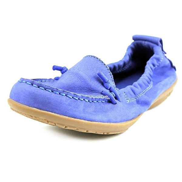Hush Puppies Ceil Slip On Women Round Toe Leather Blue Loafer