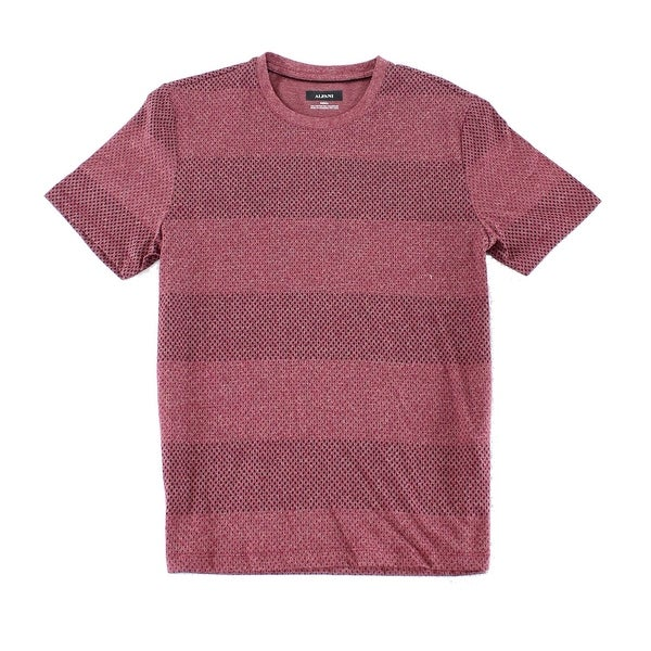 ba22ecdb5712 Shop Alfani Red Mens Size XL Geometric Wide Striped Crewneck Tee T-Shirt -  Free Shipping On Orders Over $45 - Overstock - 22358599