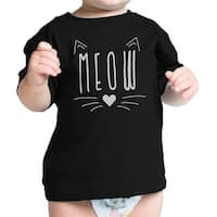 Meow Infant Gift Tee Shirt Black