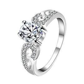 Petite Classic Crystal Laser Cut Petite Ring