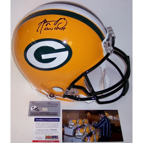 127e4729f Shop Aaron Rodgers Autographed Hand Signed Green Bay Packers Full Size  Authentic Helmet - PSA/DNA - Free Shipping Today - Overstock - 13074036