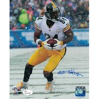 Antonio Brown Autographed Pittsburgh Steelers 8x10 Photo Solo Snow JSA