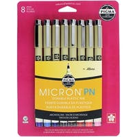 Pigma Micron Pn Pens 05 .45Mm 8/Pkg-Assorted Colors