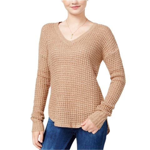 Ultra Flirt Womens Marled Knit Sweater