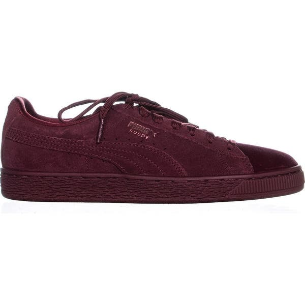 buy popular e92c0 40873 Shop PUMA Suede Classic Velvet Sneakers, Cordovan - Free ...