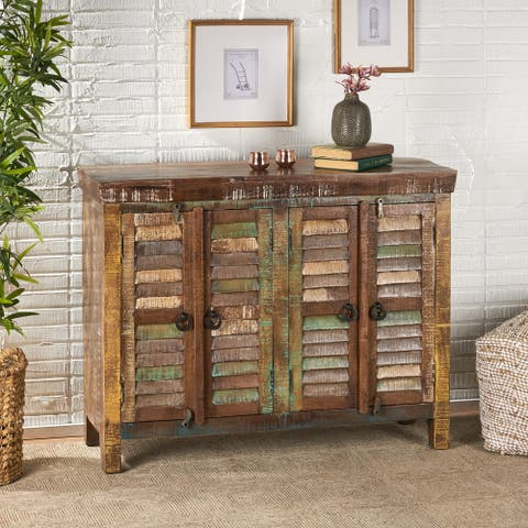 Macalpin Recycled Wood Cabinet by Christopher Knight Home