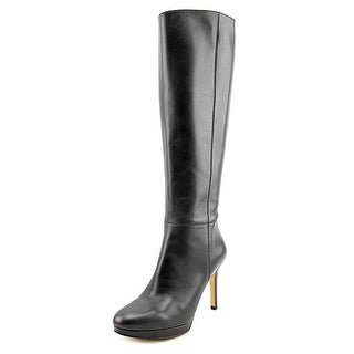 Nine West Okena Women Round Toe Leather Gray Knee High Boot