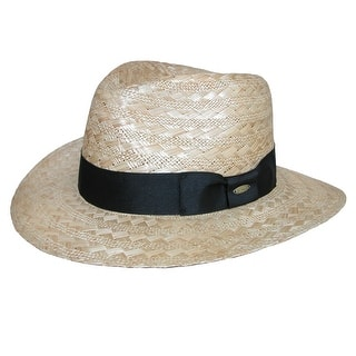 eafb590dfd0 Scala Classico Men s Wide Weave Safari Hat with Ribbon Hatband