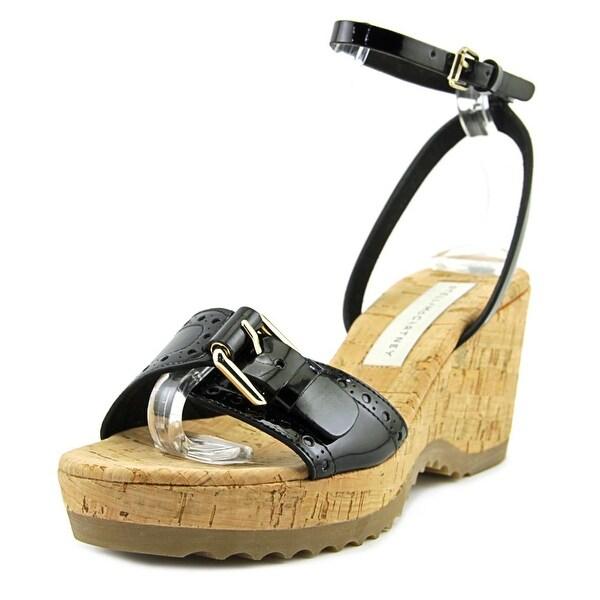 Stella McCartney Lorien Open Toe Patent Leather Wedge Sandal