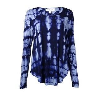 Karen Kane Women's Scoop Neckline Tie Dye Tee (M, Tie Dye) - Tie Dye