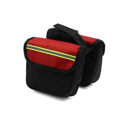 Father s Day Gift l Bike Double Side Rack Rear Seat Tail Carrier Pannier Bag Storage Black Red