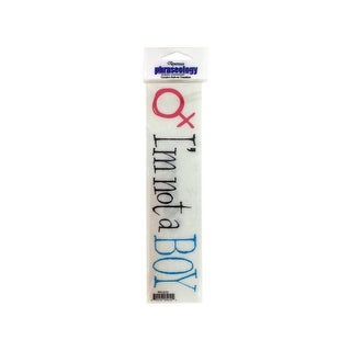 I'm Not a Boy Creative Rub-On Transfer - Pack of 36