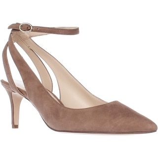 Nine West Shawn Ankle Strap Pumps, Natural