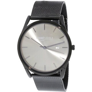 Kenneth Cole Men's Black Stainless-Steel Fashion Watch