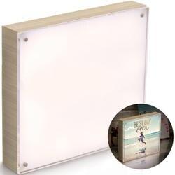 "Natural - We R PhotoLights Backlit Wood Finish W/Acrylic Frame 8""X8"""