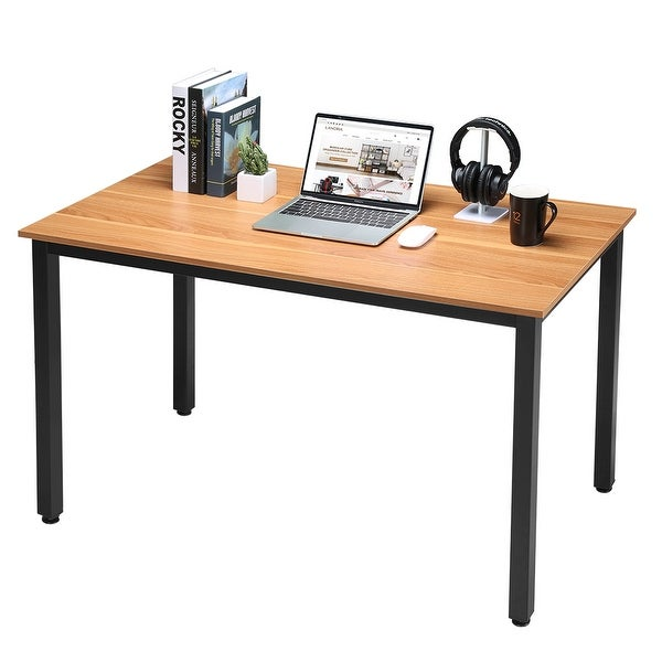 """Oversized Wood And Metal Laptop Table: Shop LANGRIA Large 47"""" Wood And Metal Computer Desk"""