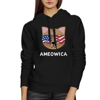 Ameowica Unisex Black Funny Design Hoodie Gift Ideas For Cat Lovers