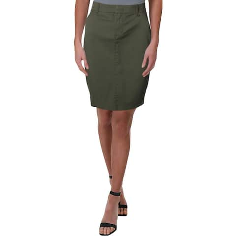 Donna Karan Womens Cargo Skirt Pencil Daytime
