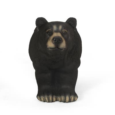 Collinston Outdoor Cast Stone Outdoor Bear Garden Bench by Christopher Knight Home