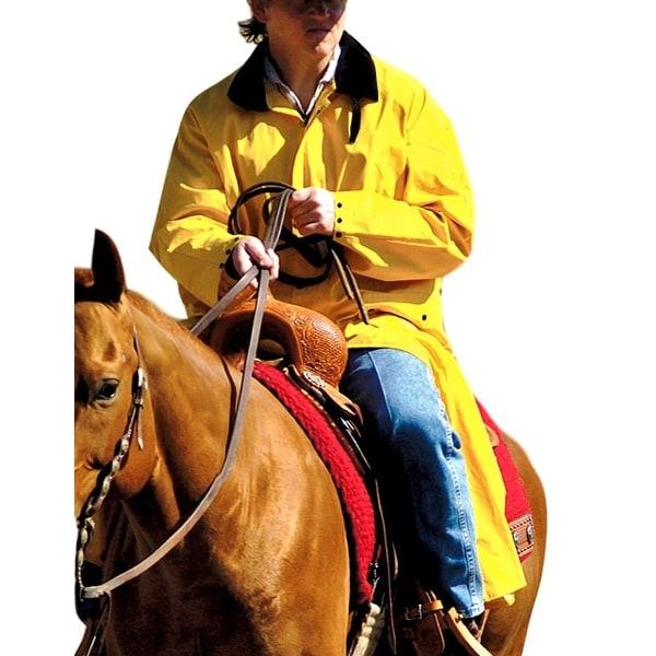 Double S Western Jacket Adult Saddle Slicker Waterproof Yellow. Opens flyout.