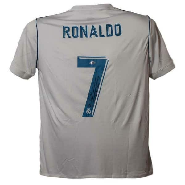 Shop Cristiano Ronaldo Autographed Real Madrid Adidas Xl White Jersey Bas Black 5 X 8 Overstock 31771129